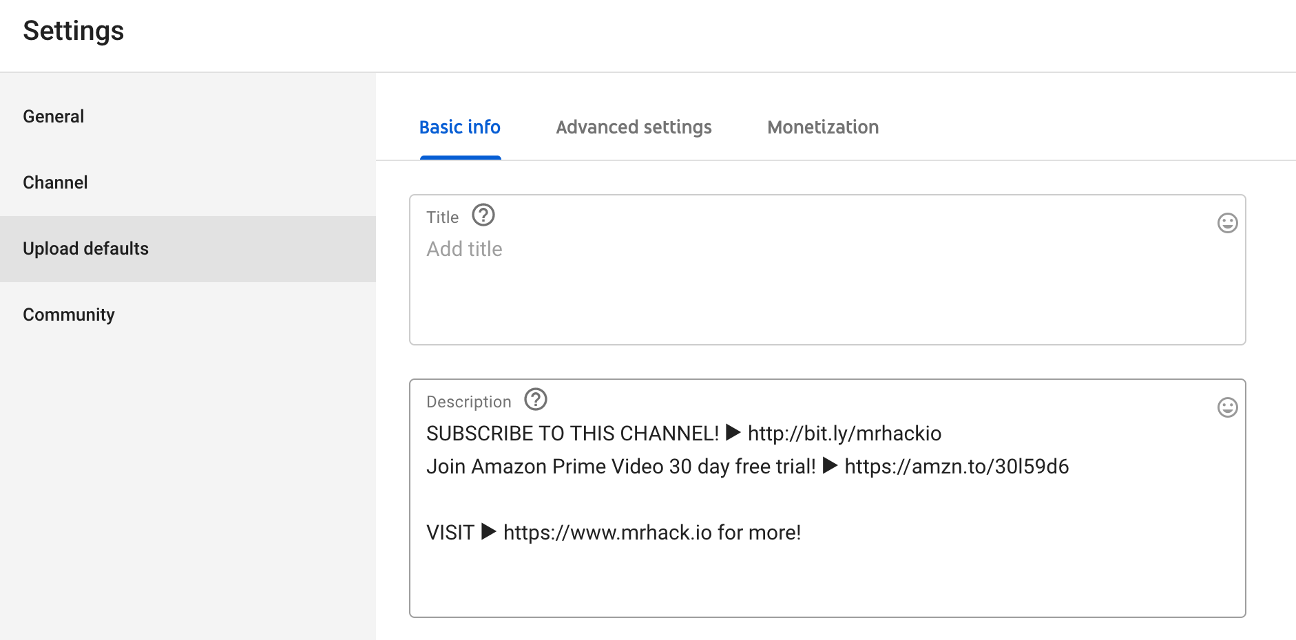 How to edit Youtube descriptions